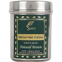 SVATV :: Henna Hair Color/Dye With 9 herbs - 120 Grams - Henna for Hair, Natural Hair Color - Chemical Free Hair Color…