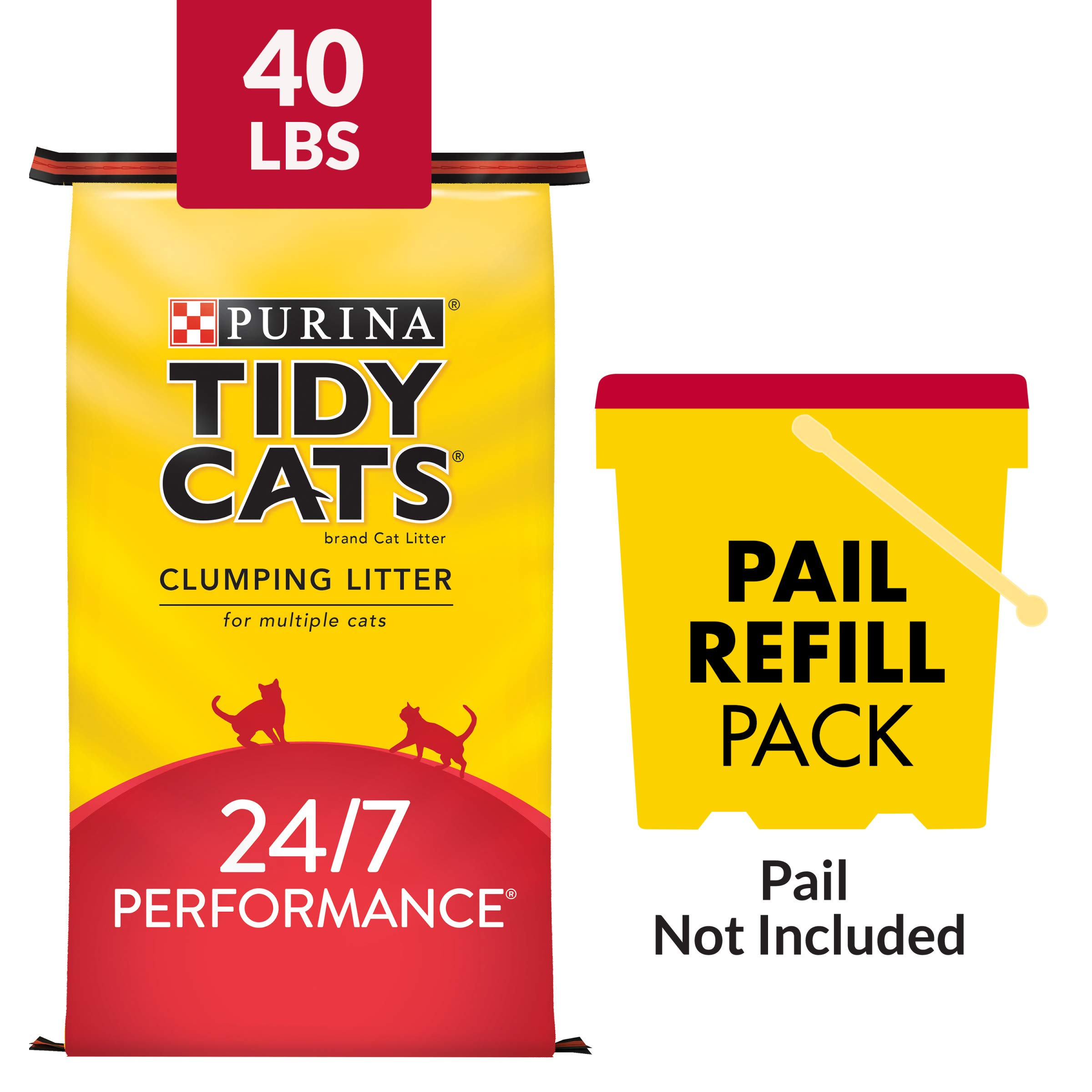 Purina Tidy Cats Clumping Cat Litter, 24/7 Performance Multi Cat Litter - 40 lb. Bag by Purina Tidy Cats