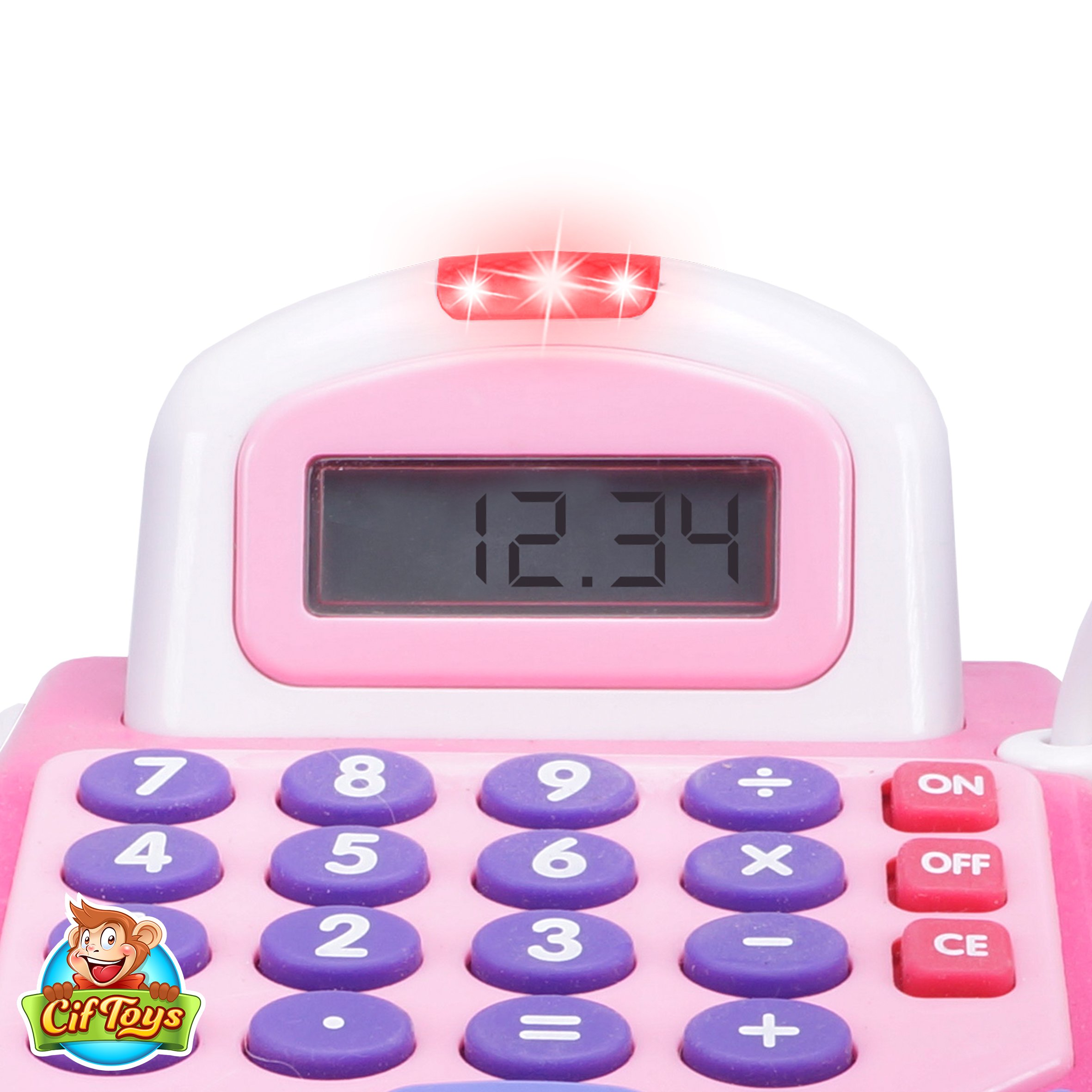 CifToys Cashier Toy Cash Register Playset | Pretend Play Set for Kids | Colorful Children's Supermarket Checkout Toy with Microphone & Sounds | Ideal Gift for Toddlers & Pre-Schoolers by CifToys (Image #6)