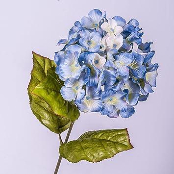 Artplants Fleur D Hortensia Artificielle Bleu 70 Cm O 16 Cm