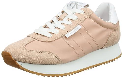 Calvin Klein Colette Nylon/Suede, Zapatillas para Mujer: Amazon.es: Zapatos y complementos