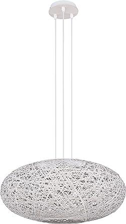Leuchte Deckenleuchte Wohnzimmer Lampe E27 Schlafzimmer Weiss Grau (Modell  X)