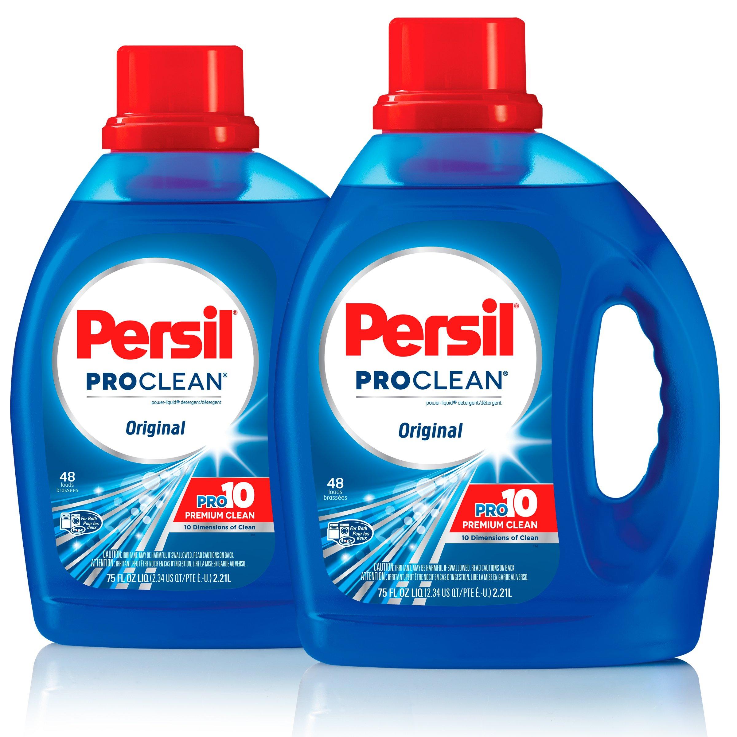 Persil ProClean Power-Liquid Laundry Detergent, Original Scent, 75 Fluid Ounces, 96 Total Loads (Pack of 2)