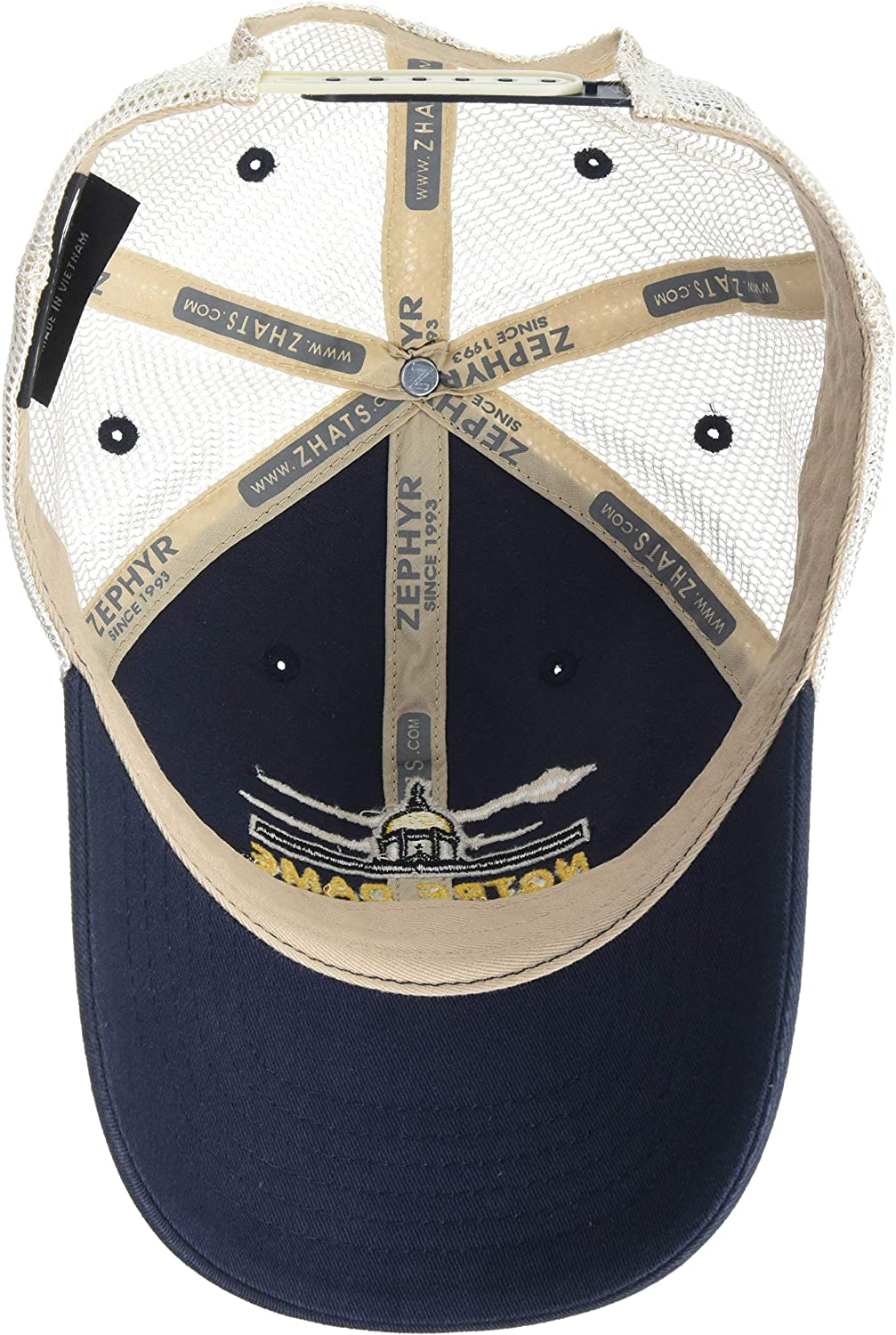 Team Color//Stone Wash NCAA Zephyr Notre Dame Fighting Irish Mens Destination Relaxed Hat Adjustable
