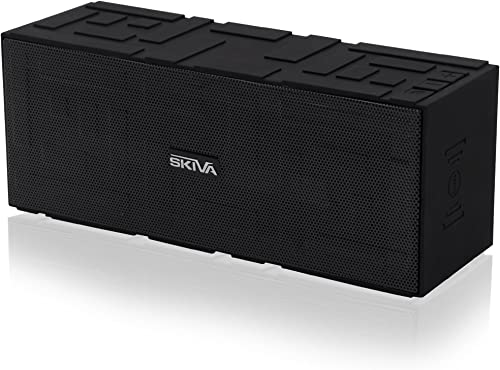 BigSound 15 Watt Bluetooth Speaker with Enhanced Bass and Loud and Clear Sound Portable Outdoor Stereo Wireless Speaker with Long Playtime High Fidelity, Built-in Microphone by Skiva Model SP101