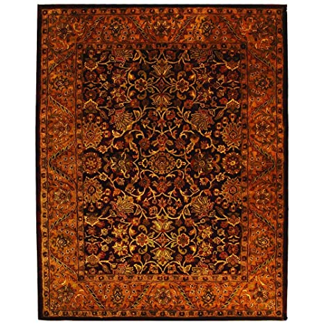Amazon.com: Safavieh hecho a mano dorado Jaipur Borgoña/oro ...