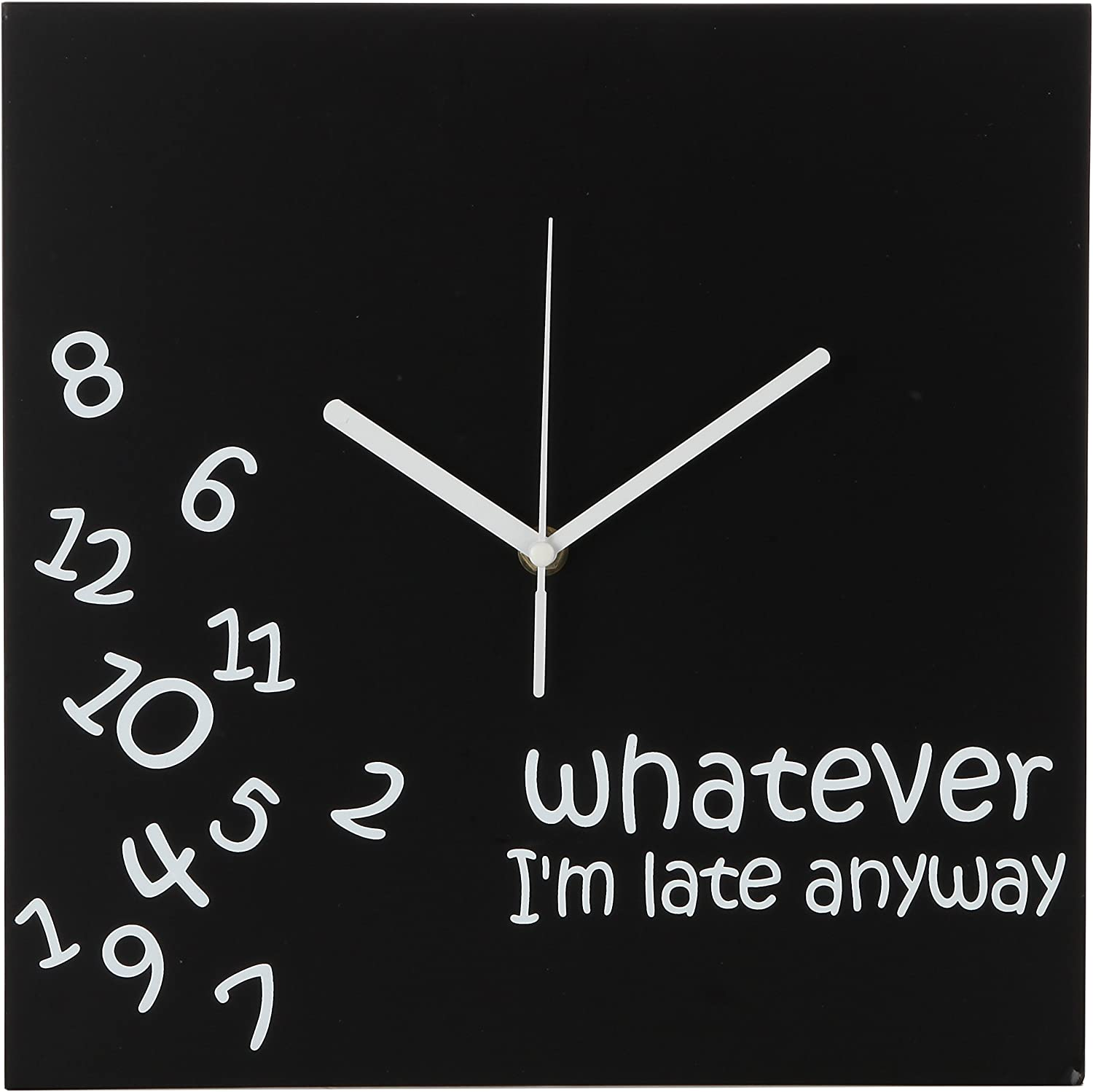 Battery Operated Unique Wall Clock-for Living Room Whatever Im ...
