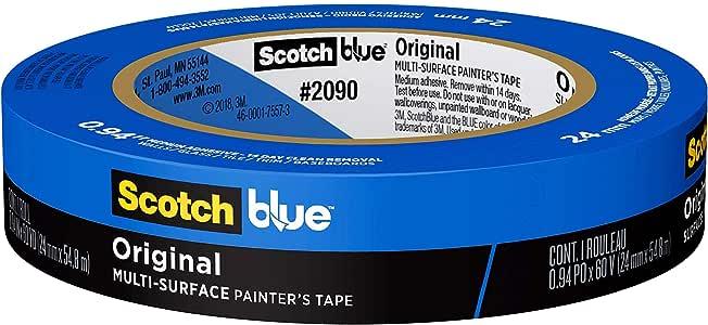 ScotchBlue™ Original Multi-Surface Painter's Tape, 2090-24EC, 0.94 in x 60 yd (24 mm x 54.8 m)