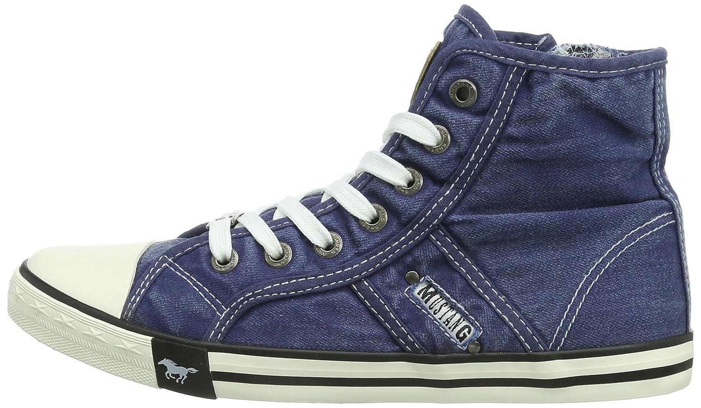 Booty 1099-502-841 Damen Sneaker, Blau (841 jeansblau), 37 EU Mustang