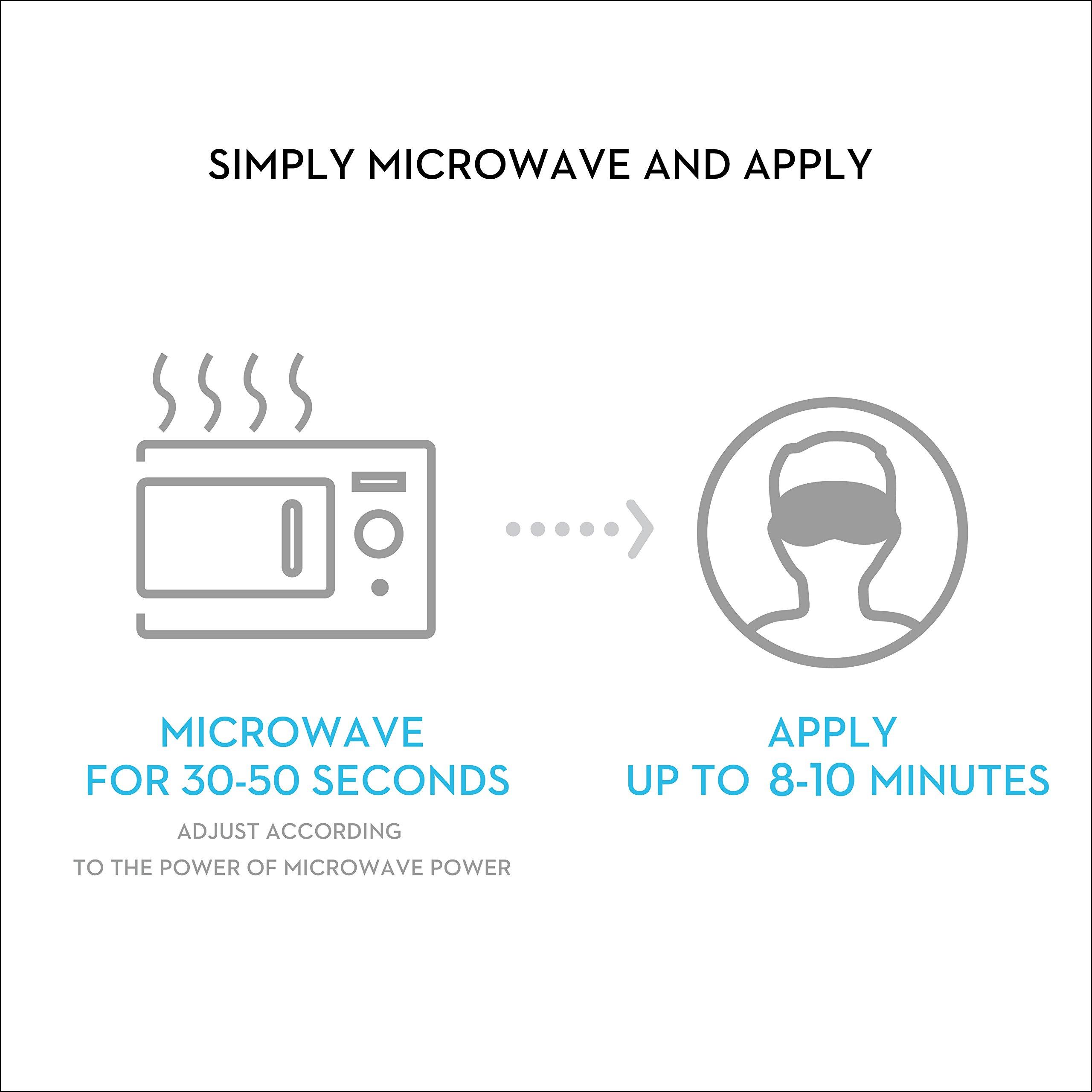 Kimkoo Eye Compress Moist Heat &Dry Eye Mask - Microwave Heating Pad,Washable and Reusable