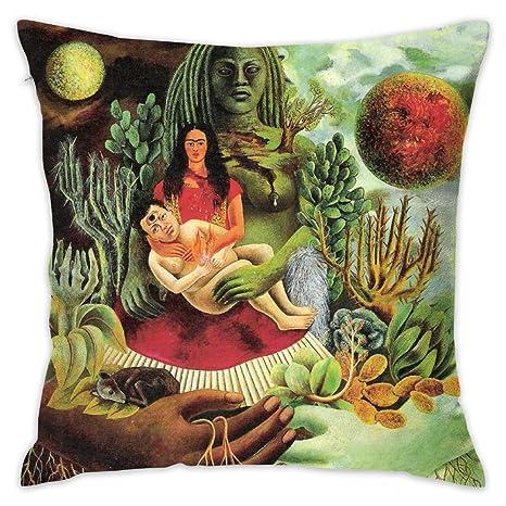 Rockfeeltee Funda de Almohada Frida-Kahlo decoración única ...