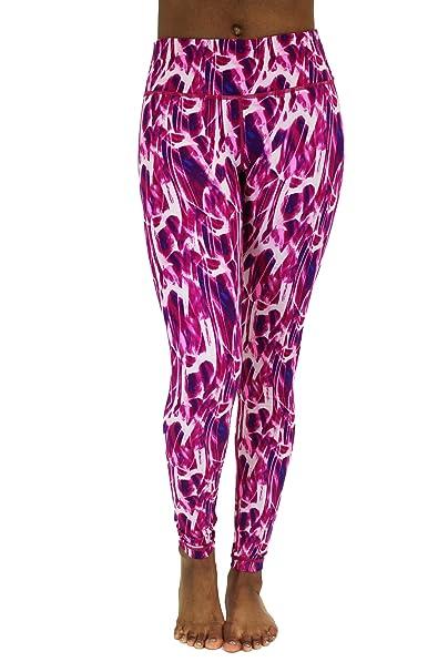 6d756d07f2 90 Degree By Reflex Activewear Yoga Pants - Peachskin Brushed Printed  Leggings Print 286 Fantasy Magenta