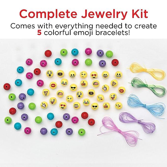 Creativity for Kids Emoji Bracelets - Emojis for Kids - Makes 5 Emoji Bead  Bracelets