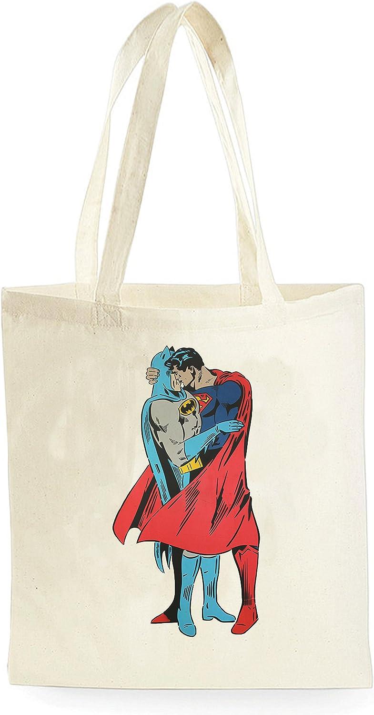 Tote Natural Cotton Fashion Shopper Bag Gym Shopping Beach Batman vs Superman