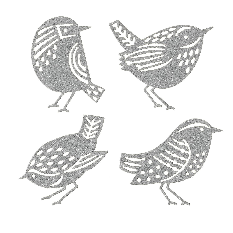 4 Pack Stylized Birds Darice 30041377 Craft Die Set