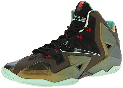 buy popular 88220 582f2 Nike Men s Synthetic Lebron Xi King s Pride Basketball Shoes, 13  US(Parachute Gold   Arctic Green-Dark Loden-Black)  Buy Online at Low  Prices in India ...