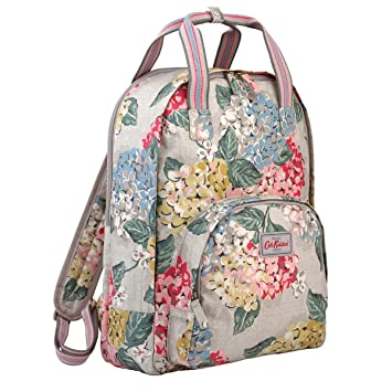 5803a1f0a5c8c Cath Kidston Matt Oilcloth Multi Pocket Backpack Rucksack Hydrangea Colour  Oat