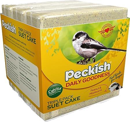 3 Pack Insect /& Mealworm Garden Bird Feed Treat Happy Beaks Suet Blocks