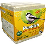 Peckish Daily Goodness Mealworm Suet Cake Block for Wild Birds, 300 g, Pack of 3