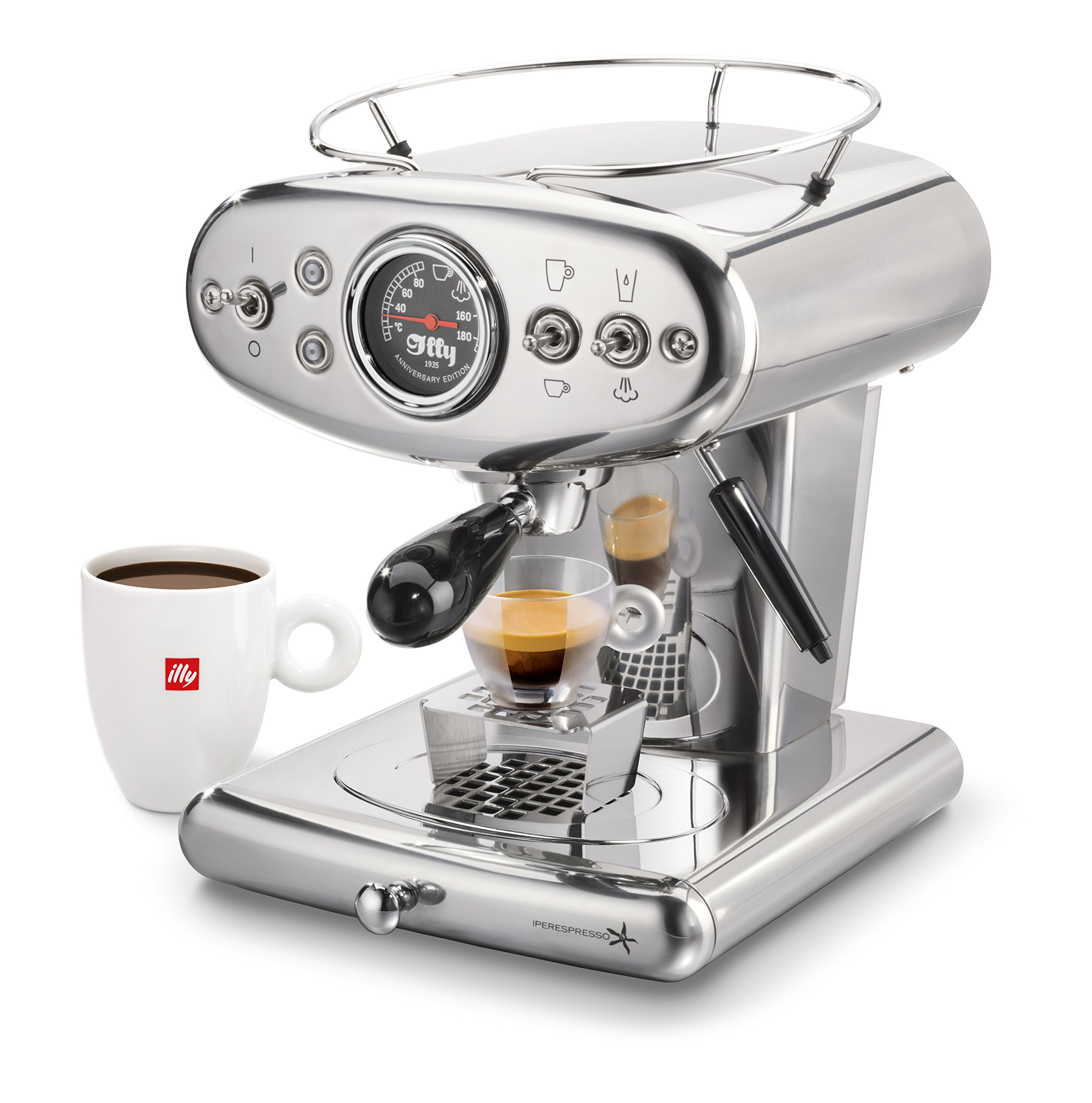 illy 60254 X1 Espresso Machine, 13 x 9.8 x 10.60, Stainless by Illy