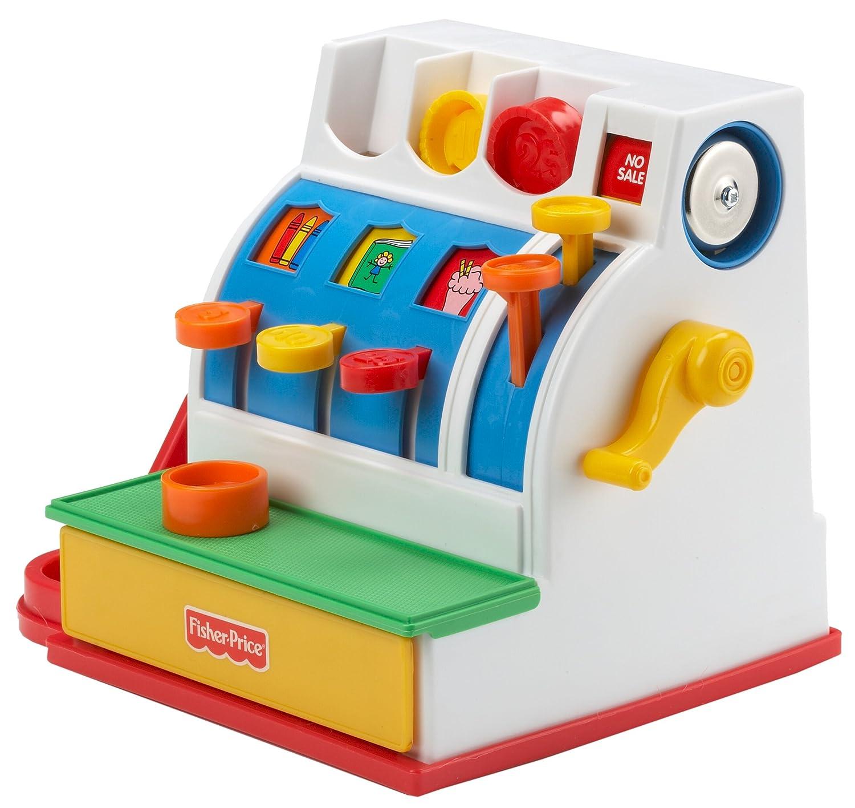 Geräte Fisher-Price Mattel Registrierkasse Mit Klingelgeräusch Bunte Münzen inklusive