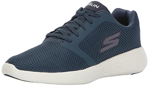 Skechers Performance Go Run 600-Refine, Scarpe Sportive Indoor Uomo, Blu (Navy), 45 EU