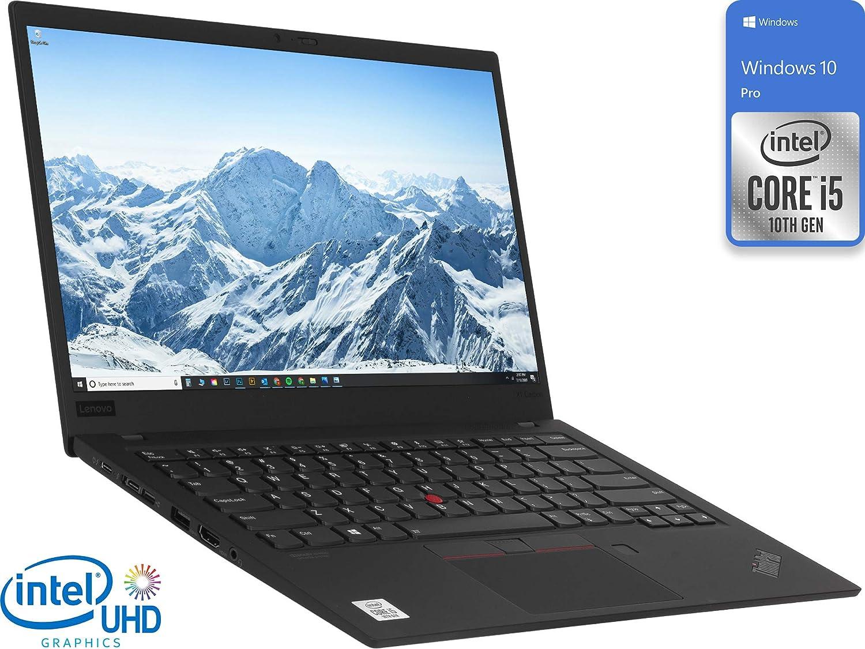 Amazon Com Lenovo Thinkpad X1 Carbon Gen 7 20r1s0m100 Laptop 14 Fhd Display Intel Core I5 10210u Upto 4 2ghz 8gb Ram 256gb Nvme Ssd Hdmi Thunderbolt Wi Fi Bluetooth Windows 10 Pro Computers Accessories
