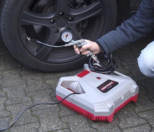 Dino Kraftpaket Compressor 230 V 190 L Min 8 Bar 1 5 Hp 1100 W Portable Air Compressor With Blow Gun Tyre Inflator Adapter Set 9 Piece With Tyre Adaptor Ball Needle Air Mattress Adaptor Auto