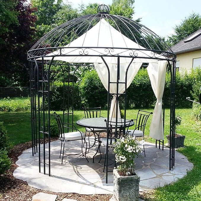 Hierro Carpa Pabellón Jardín Rose Cenador de metal Cenador (300 cm ...