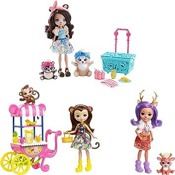 Amazon.es: Enchantimals - Picnic en el parque Pack de 3 muñecas con mascotas (Mattel FVJ80): Juguetes y juegos