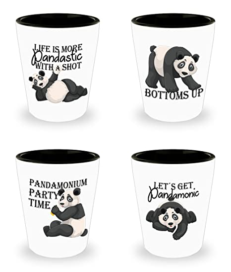 Pandas Gifts 21st Birthday Gift Funny Shot Glasses Panda Cute