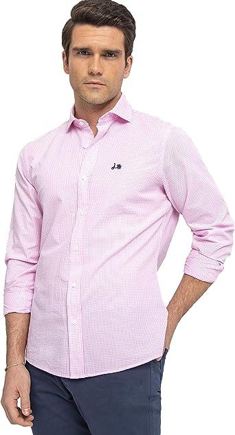 Scotta 1985 – Camisa Vichy Rosa Frambuesa Regular Fit, Algodón, Casual para Hombres, : Amazon.es: Ropa y accesorios
