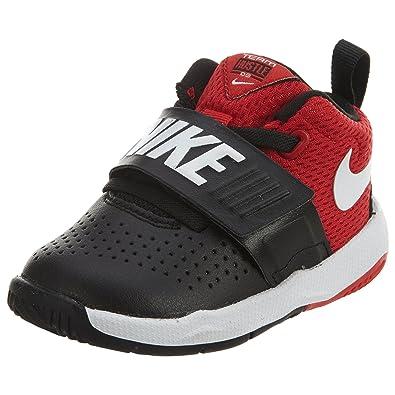 the latest 99ca5 3ff01 Nike Boy s Team Hustle D 8 (TD) Toddler Basketball Shoe Black White