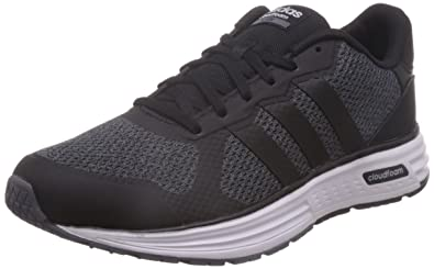 adidas neo Men's Cloudfoam Flyer Onix, Cblack and Msilve Sneakers - 7 UK /India