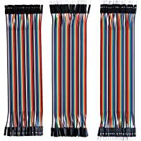 Elegoo 120 st Flerfärgad Duplex Kabel 40 Stift Hane till Hona, 40 Stift Hane till Hane, 40 Stift Hona till Hona…