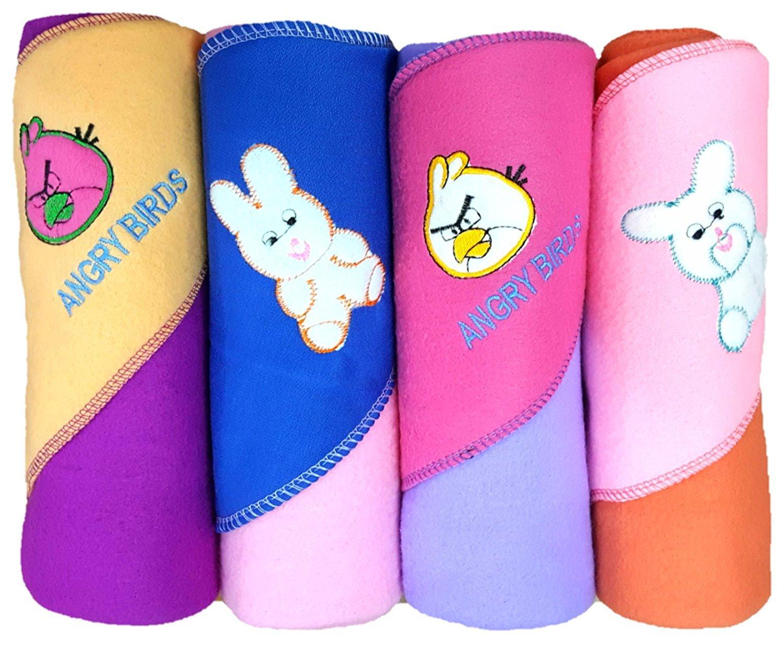 Brandonn Premium Quality Rainbow A/C Baby Blanket Cum Baby Wrapper (Multicolor, Pack of 4, 4 Pieces)