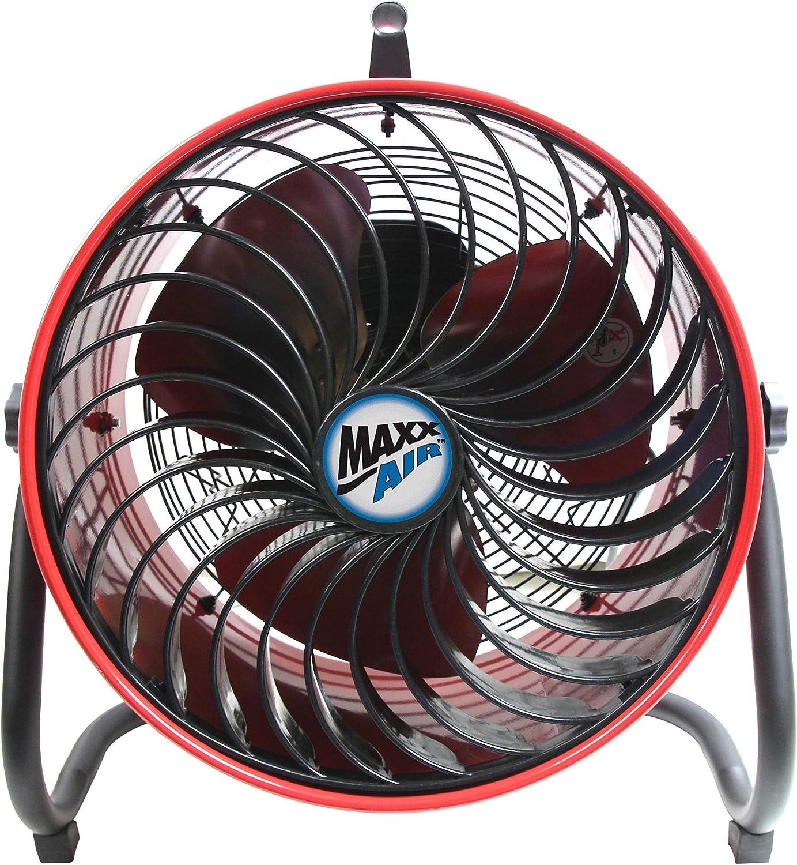 MaxxAir Professional Grade Multi-Purpose High Velocity Utility, Carpet Dryer, Floor Blower, Shop Fan, 16 Inch, 16 Turbo