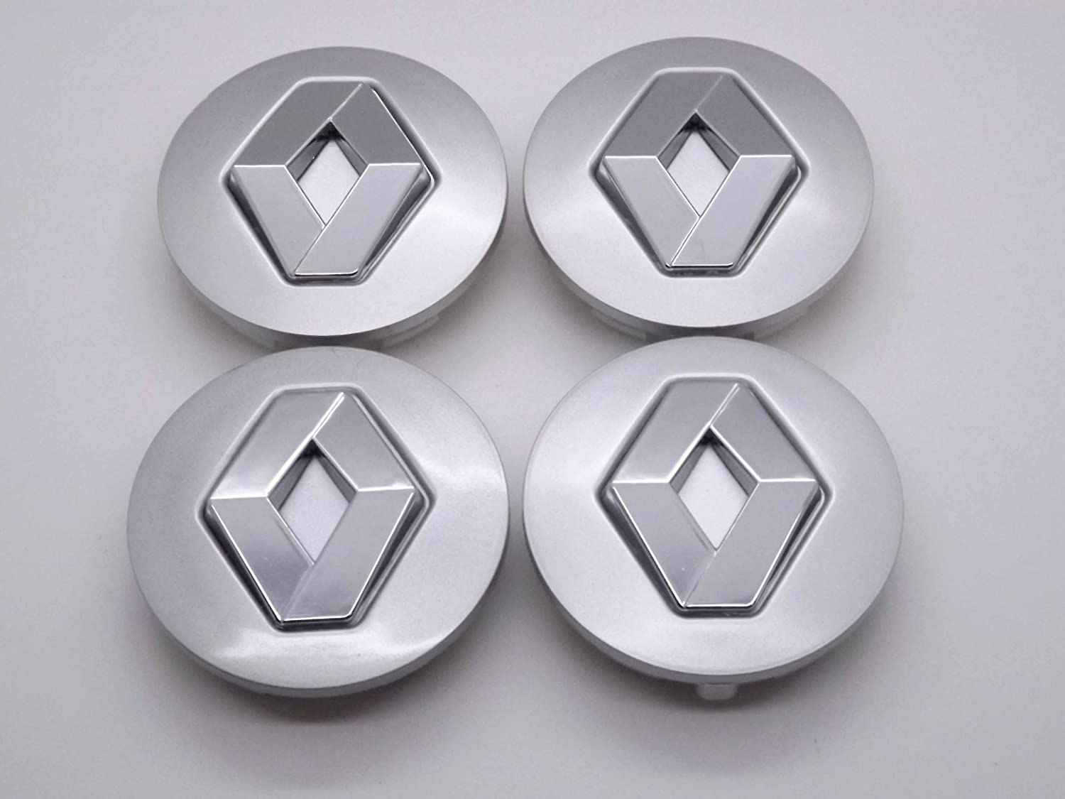 LAGUNA ESPACE 57mm RENAULT 57MM ALLOY WHEEL CENTRE CAPS HUB COVERS BADGES EMBLEM // Nabendeckel Felgendeckel Nabenkappen Logo MEGANE SCENIC CLIO SET OF 4 8200043899 SATZ VON 4
