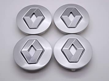 Renault 57 mm Alloy Wheel Centre Caps Hub Emblema Covers Badges/Buje Tapa Llanta Tapa Buje tapas Logo Megane: Amazon.es: Coche y moto