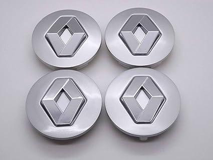 Renault 57 mm Alloy Wheel Centre Caps Hub Emblema Covers Badges/Buje Tapa Llanta Tapa