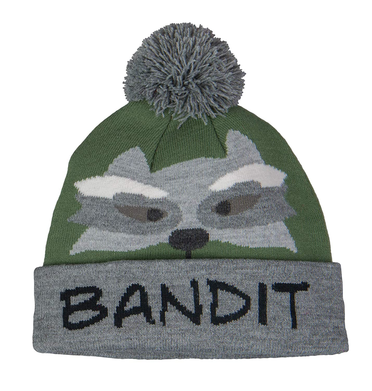 Broner Kids Knit Cuff Cap with Animal Design