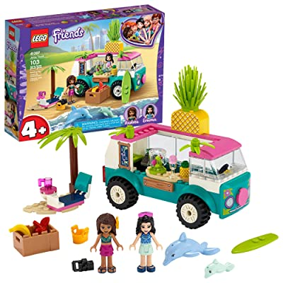 LEGO Friends Juice Truck LEGO Truck 41397 Building Kit; Kids Food Truck Featuring LEGO Friends Emma Mini-Doll Figure, New 2020 (103 Pieces): Toys & Games