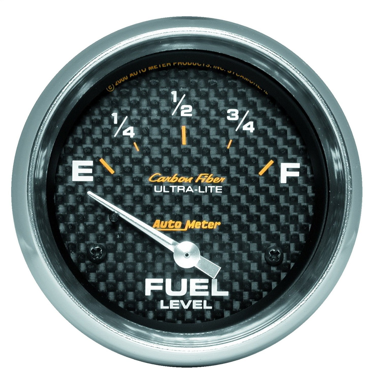 Auto Meter 4816 Carbon Fiber Electric Fuel Level Gauge by Auto Meter