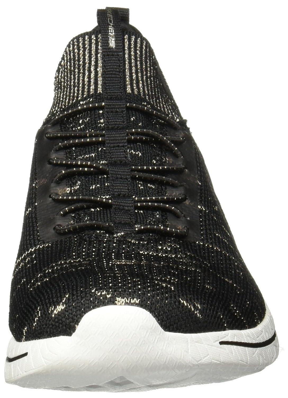 Skechers Damen Sneaker Burst Burst Sneaker Grand Fortune Schwarz Schwarz/Gold (Bkgd) 579c5b