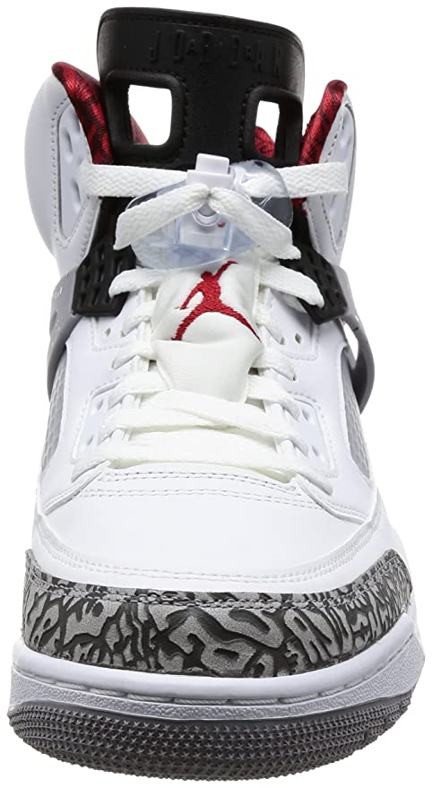 info for 0d84c 7e8e7 Amazon.com  Nike 315371-122 Men Spizike Jordan White Varsity RED Cement Grey   Nike  Clothing