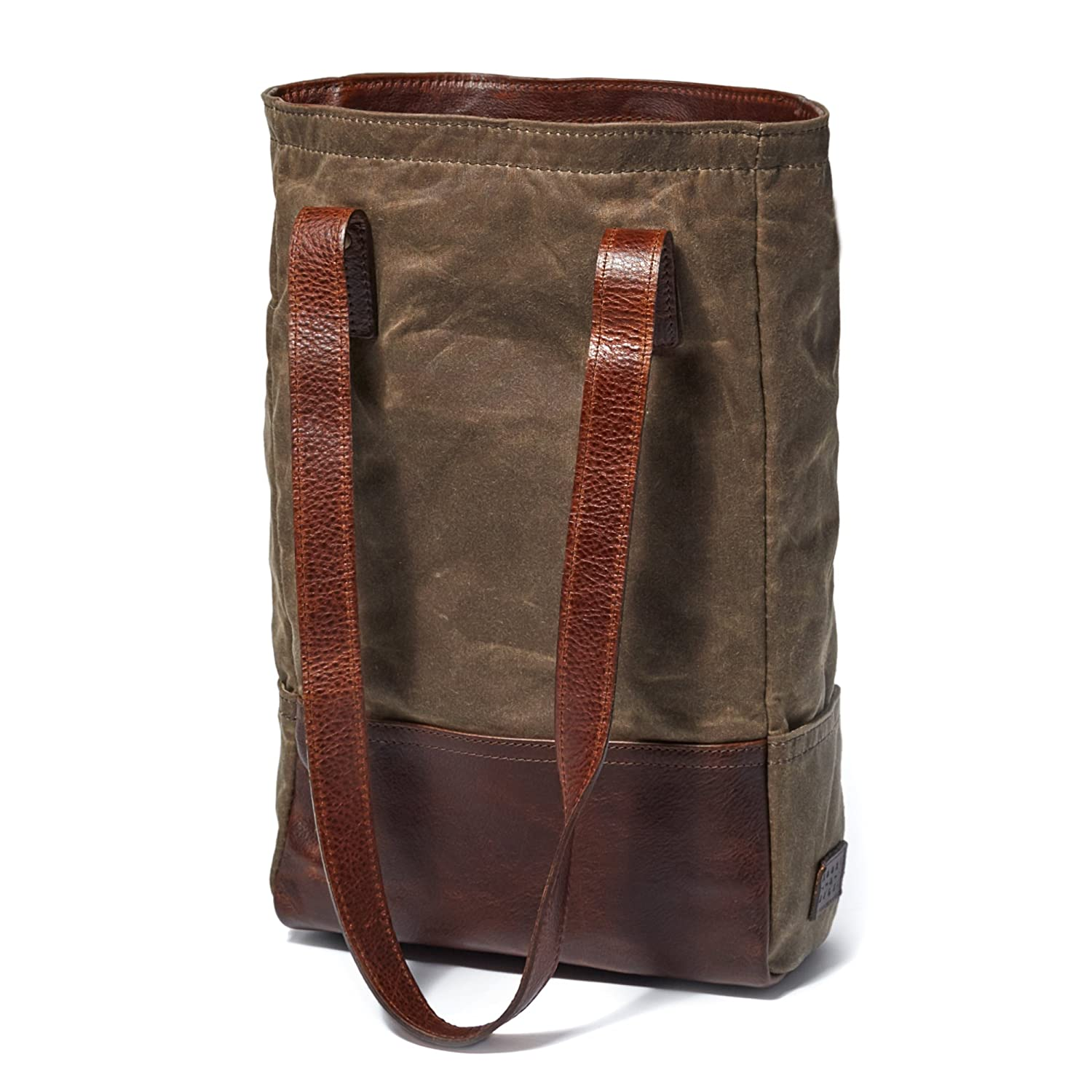 Moore and Giles Waxwear Rangertan Petty Wine Bottle Tote Moores and Giles .