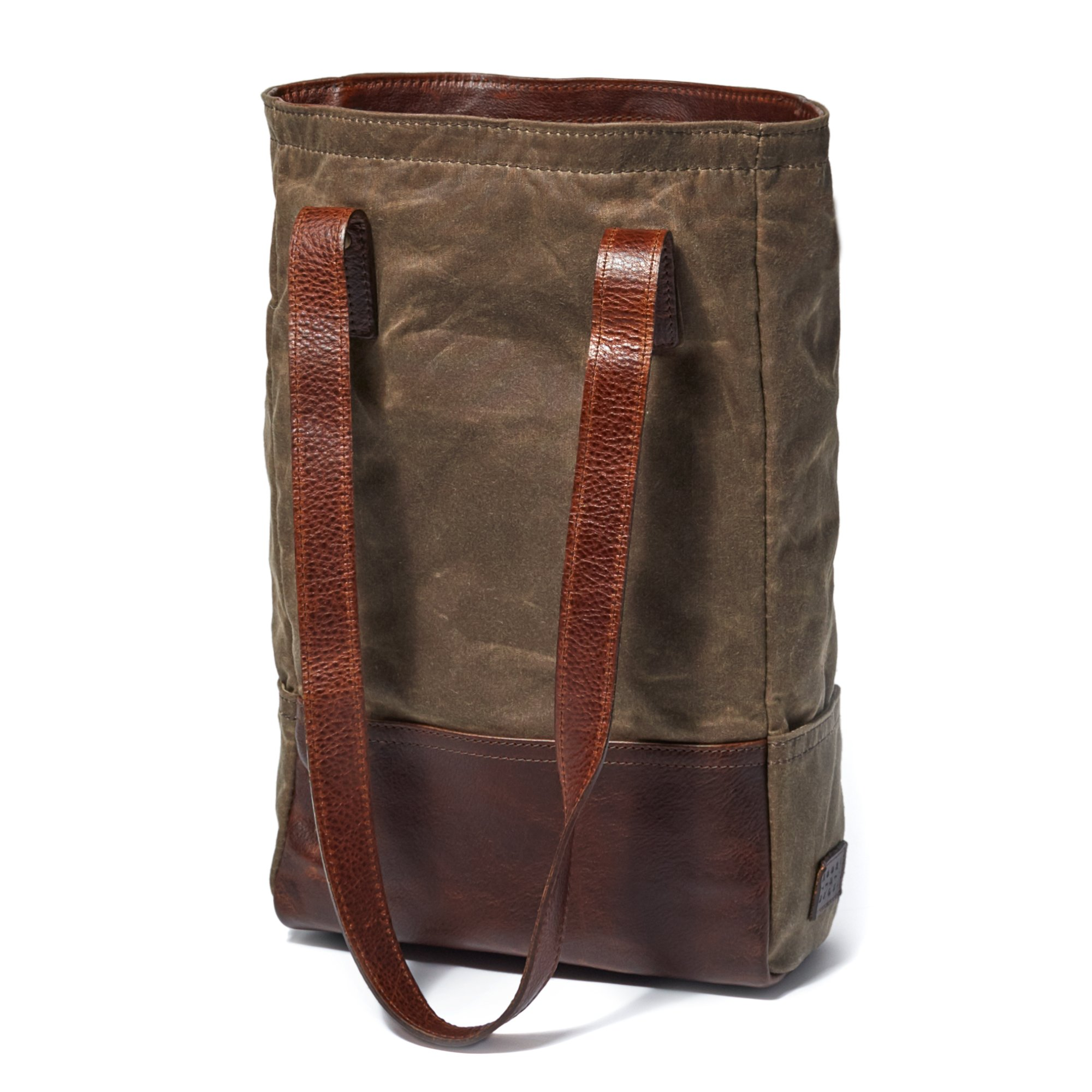 Moore and Giles Waxwear Rangertan Petty Wine Bottle Tote