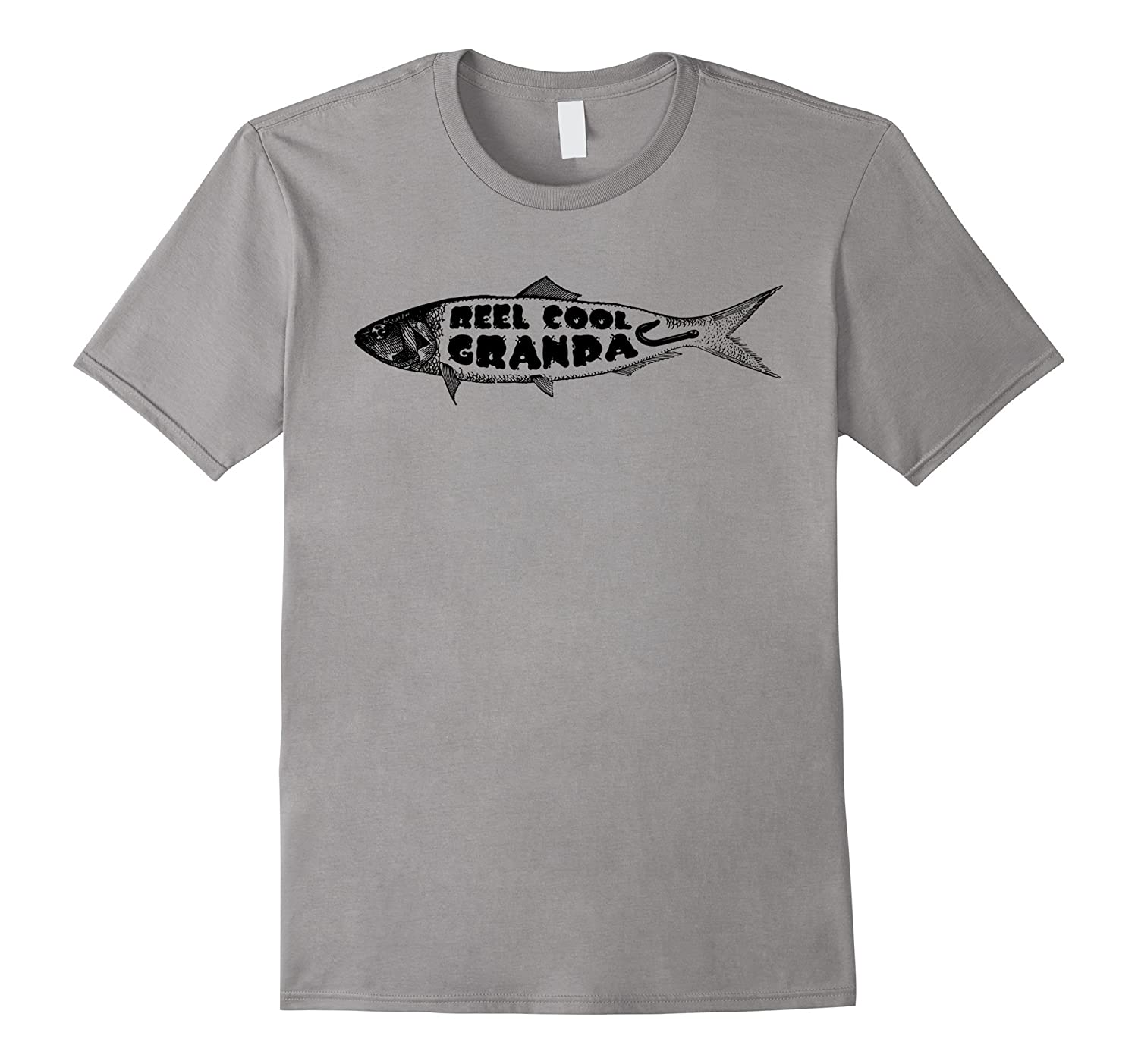 fa3a26a0 Real Cool Grandpa Fish Shirt, Funny Fishing Graphic Tee-CL – Colamaga