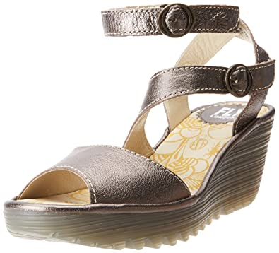 cc77a3d6 Fly London Women's Yisk837fly Ankle Strap Sandals, Gold (Bronze 018), ...