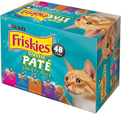 Purina Friskies Classic Pate, Variety Pack 5.5 oz, 48 Count.